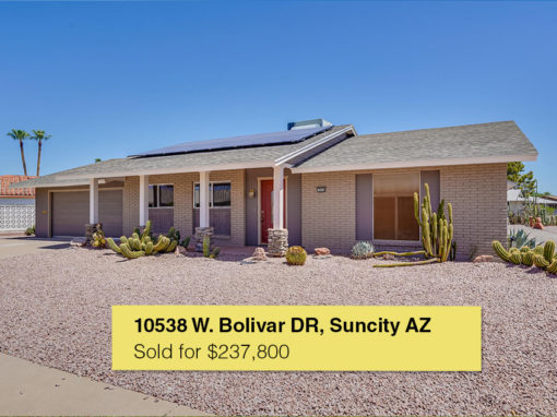 10538 W. Bolivar Drive Sun City, AZ 85351