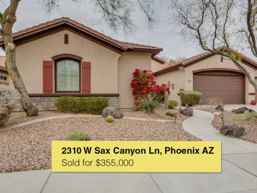 2310 W Sax Canyon Ln