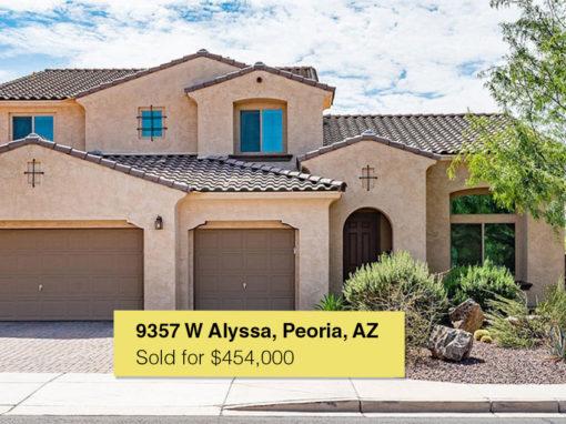 9357 W Alyssa, Peoria, AZ 85383
