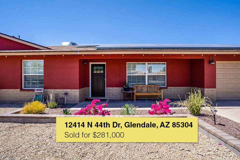 12414 N. 44th Drive, Glendale, AZ 85304 – Sold