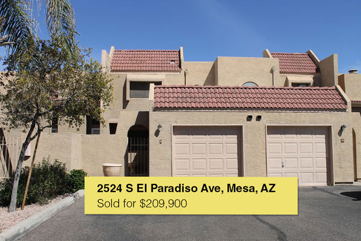 Sold by the Angelo Group | 2524 S El Paradiso Ave UNIT 96, Mesa, AZ 85202