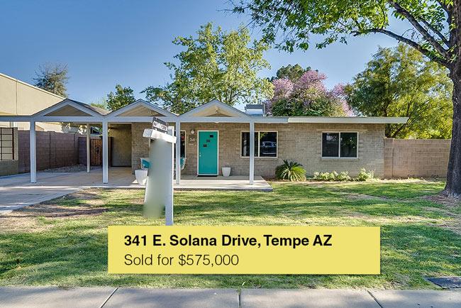 341 E. Solana Drive, Tempe, AZ 85281-Sold