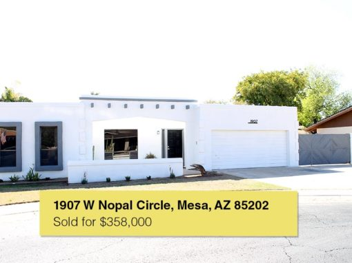 1907 W Nopal Circle, Mesa, AZ 85202