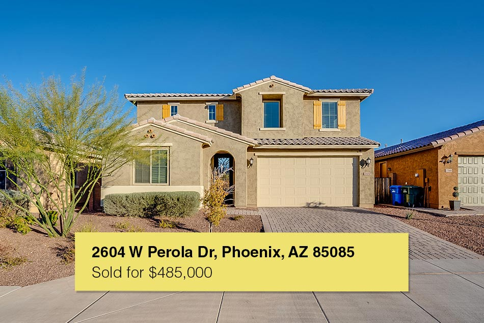 2604 W Perola Dr, Phoenix, AZ 85085 - sold on 3/6 for $485,000